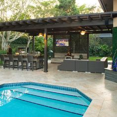Pool House Designs With Outdoor Kitchen pool house with outdoor kitchen traditional patio Find This Pin And More On Home Outdoor Kitchen Designs