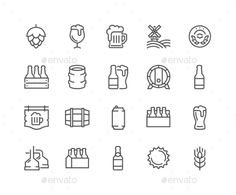 Line Beer Icons. Download here: http://graphicriver.net/item/line-beer-icons/16582911?ref=ksioks