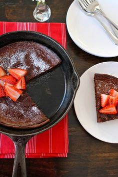 The perfect sweet to add to a weekend brunch...Chocolate Dutch Baby from @Maria (Two Peas and Their Pod)