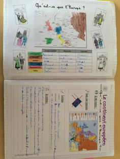 Cahier de géographie (CM1) Cycle 2, French Class, School Life, Interactive Notebooks, Classroom, Teacher, School, Science, History