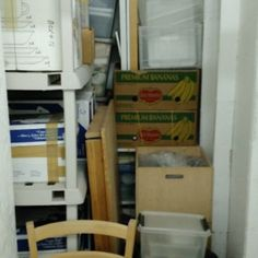 7x4. Chairs, Lots of Boxes, Table, Tupperware with Items, Basket. #StorageAuction in Vancouver (C111). Ends Nov 20, 2015 1:00PM America/Los_Angeles. Lien Sale.