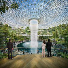 Expansive Greenhouse with Waterfall Planned for Singapore Airport - My Modern Met