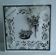 cards made with tattered lace shoe die Tattered Lace Cards, Dress Card, Spellbinders Cards, Birthday Cards For Women, Beautiful Handmade Cards, Die Cut Cards, Heartfelt Creations, Vintage Cards, Greeting Cards Handmade