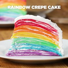 How to make Rainbow Crepe Cake. This Rainbow Crepe Cake Is Almost Too Beautiful To Eat. You can find this delicious recipe right here! Food Cakes, Cupcake Cakes, Cupcakes, Cake Cookies, Baking Recipes, Cake Recipes, Dessert Recipes, Pork Recipes, Dishes Recipes