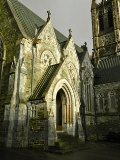 Gothic Church at Kylemore Abbey, Connemara, Western Ireland - Dec 2011