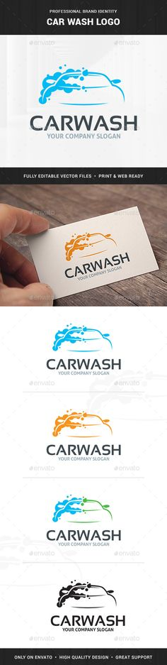 Car Wash Logo Template - Objects Logo Templates