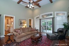 Great Room The Birchwood House Plan #1239