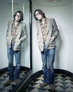 Jarvis Cocker Jarvis Cocker, Ben Whishaw, Britpop, My Boyfriend, My Music, Style Icons, Beautiful People, Bomber Jacket, Menswear