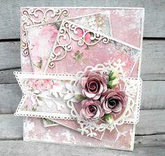 Jeg har hygget mig med at lave et kort efter skitsen HER .jeg har brugt det lækre papir Vintage Time fra Craftandyou design roserne er ogs...