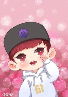 Hình ảnh Baekhyun Fanart, Chanbaek Fanart, Exo Chanbaek, Kpop Fanart, Chanyeol Cute, Park Chanyeol Exo, Exo Cartoon, Exo Anime, Korean Anime