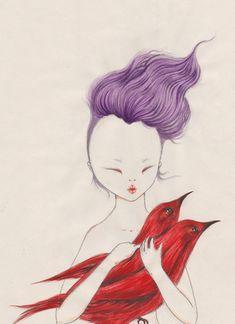 Violeta Hernández: Maquiavélica illustrations