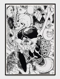 Mike Kelley microcosm acrylic on paper 1988