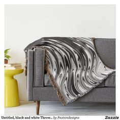 Untitled, black and white Throw Blanket