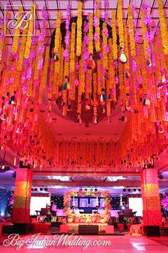 Oriental Events wedding decor with marigolds