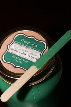 """Forest Walk"" DIY Chalk Paint Inspired by Nature's lush greenery (Pigments With Purpose) Paint Line, Chalk Paint, Lush, Greenery, Purpose, Homemade, Inspired, Diy, Home Made"
