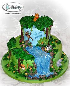 D Sugar Jungle Animal Cake Decorations
