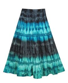 Plus Size Tie Dye Skirt –Size: 12 Color: Blue