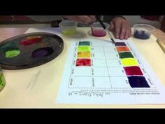 Interactive Color Wheel - Mixing Colors with Tempera Paint - Color art lesson project Color Art Lessons, 6th Grade Art, High School Art, Tempera, Elements Of Art, Teaching Art, Color Mixing, Paint Colors, Art Projects