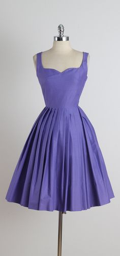 Lavender Thymes . vintage 1950s dress . by millstreetvintage