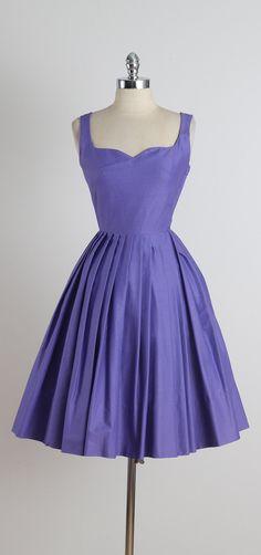 Lavender Thymes . vintage 1950s dress . by millstreetvintage