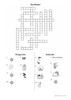 Das Wetter-Kreuzworträtsel