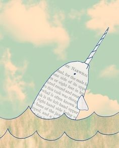 narwhal!!!! Narwhal, Swimming in the ocean... causing a commotion... because they are so awesome :3