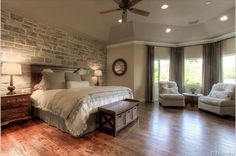 Love the simplicity of this master bedroom.  #masterbedrooms homechanneltv.com