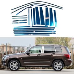 Stainless Steel Full Window Trim Decoration Strips For Mercedes-Benz GLK300 2008 2009 2010 2011 2012 Car Styling OEM-14-22 #Affiliate