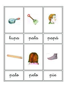 Fichas de vocabulario en imágenes | Escuela en la nube | Recursos para Infantil y Primaria Flashcard, Microsoft Word, Activities For Kids, Kids Card Games, Vocabulary Games, Yard Games