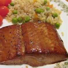delicious salmon :) no need to marinate overnight just cook everything together in a covered frying pan first then transfer pan to oven, skin side down to broil the top.
