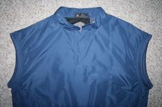 Gallery blue golf vest pullover snap up Mens Choice men man Size large polyester #Gallery #Vests
