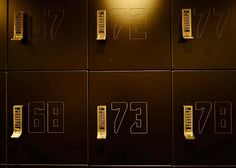 Locker numbers - Oregon Gym Employee Lockers, Gym Lockers, Locker Designs, Locker Ideas, Gym Center, Industrial Chic Style, Mindfulness At Work, Mail Room, Toilet Design