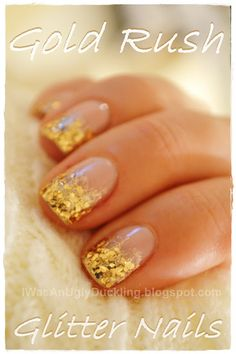 - Ugly Duckling -: Gold Rush: Graduated Glitter Nail Tutorial.