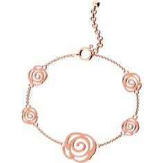 Rose Bracelet (€88) ❤ liked on Polyvore featuring women's fashion, jewelry, bracelets, rose flower jewelry, rose bangle, flower jewelry and rose jewelry