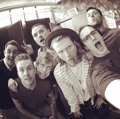 McBusted selfie, with manager Fletch