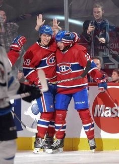 Alex Galchenyuk and Nathan Beaulieu, Montreal Canadiens