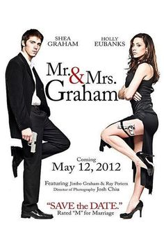 Ha! Mr & Mrs Smith movie inspired wedding invitations