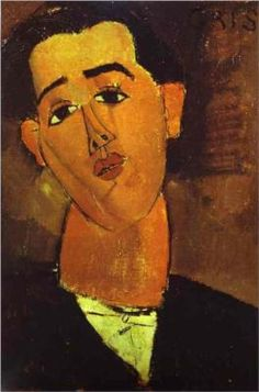 """March 1887 – May Juan Gris: """"I try to make concrete that which is abstract."""" His response to questionnaire circulated to the Cubists by Amédée Ozenfant and Le Corbusier, editors of L'Esprit Nouveau # 5 (February of Juan Gris in by Amedeo Modigliani Amedeo Modigliani, Modigliani Portraits, Modigliani Paintings, Cubist Portraits, Art Paintings, Italian Painters, Italian Artist, Pablo Picasso, Karl Schmidt Rottluff"""