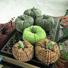 Knitted pumpkin set home decor Autumn decor harvest fall