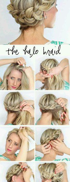 Bild über We Heart It #blonde #braid #diy #hair #woman #stepbystep