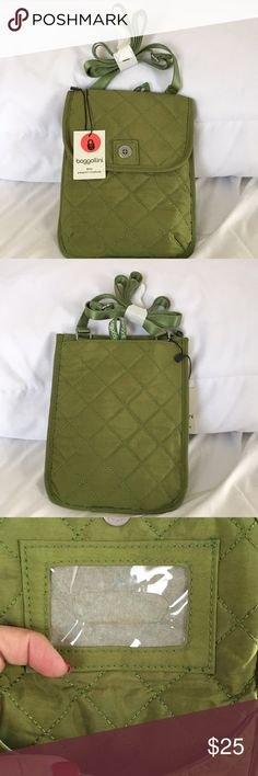 NEW Baggallini RFID Passport Crossbody Let's get ready to travel securely! Beautiful kiwi color! Baggallini Bags Travel Bags