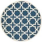 Cambridge Navy Blue/Ivory 8 ft. x 8 ft. Round Area Rug