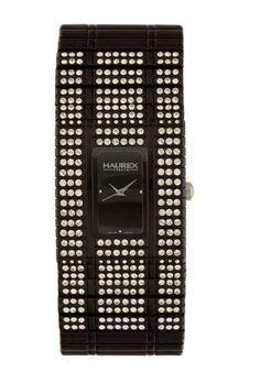 Price:$261.56 #watches Haurex NX368DNW, Haurex Italy Honey PC Women's Black Watch