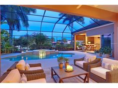 Relaxing outdoor space allows the new owners to live outdoors anytime of year. THis home has SOLD. See more Bird Key / Sarasota homes for sale. http://www.michaelsaunders.com/bird-key-real-estate/ #BirdKey  #SarasotaFL