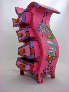 Vanya Ryan Paul Szewc Nicknack Box Violin Wood Box by PaulSzewc, $400.00