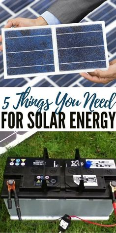 5 Things You Need for Solar Energy - Solar is getting better. In the near future we will be looking at solar energy options that are comparable with that of our on grid providers. The trend toward homes which are powered by green energy sources Renewable Energy Projects, Solar Projects, Alternative Energie, Materiel Camping, Solar Panel Installation, Solar Energy System, Solar Energy For Home, Solar Energy Panels, Sustainable Energy