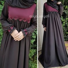 Image may contain: one or more people and people standing Hijab Gown, Hijab Style Dress, Simple Dresses, Beautiful Dresses, Nice Dresses, Mode Abaya, Mode Hijab, Islamic Fashion, Muslim Fashion