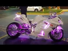 Lightning Suzuki Hayabusa - customized with Hydraulics Hyabusa Motorcycle, Pink Motorcycle, Futuristic Motorcycle, Suzuki Motorcycle, Custom Hayabusa, Custom Sport Bikes, Custom Street Bikes, Triumph Street Triple, Motorcycle Wallpaper