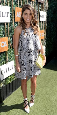 Spotted: Nikki Reed in the Most Flattering Snake-Print Dress | WhoWhatWear.com