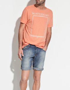 T-SHIRT ESTAMPADO QUADRADO - T-shirts - Homem - ZARA Portugal